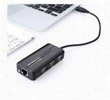 Высокая Скорость 3 Порты USB концентратор 2,0 USB разветвитель адаптер 100 Мбит сетевой карты для Тетрадь/планшетный компьютер периферийные устройства для ПК