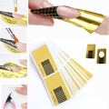 Nail Art Guide Form Sticker,50pcs/set Square Paper Golden Acrylic UV Gel Polish Stylish Tips Extension Nail Tool for Manicure