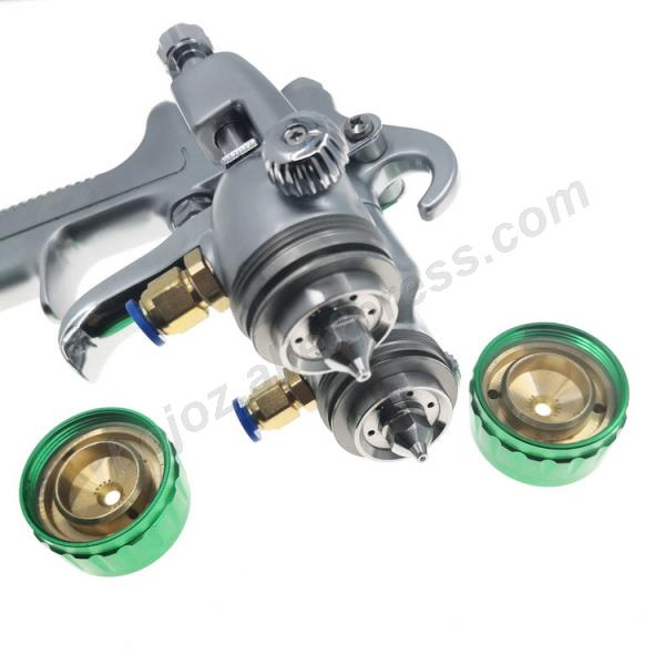 Image 3 - Double headed  1.3mm  spray gun pressure /siphon feed spray paint  chrome painting dual head Air pneumatic pressure sprayer-in Spray Guns from Tools on