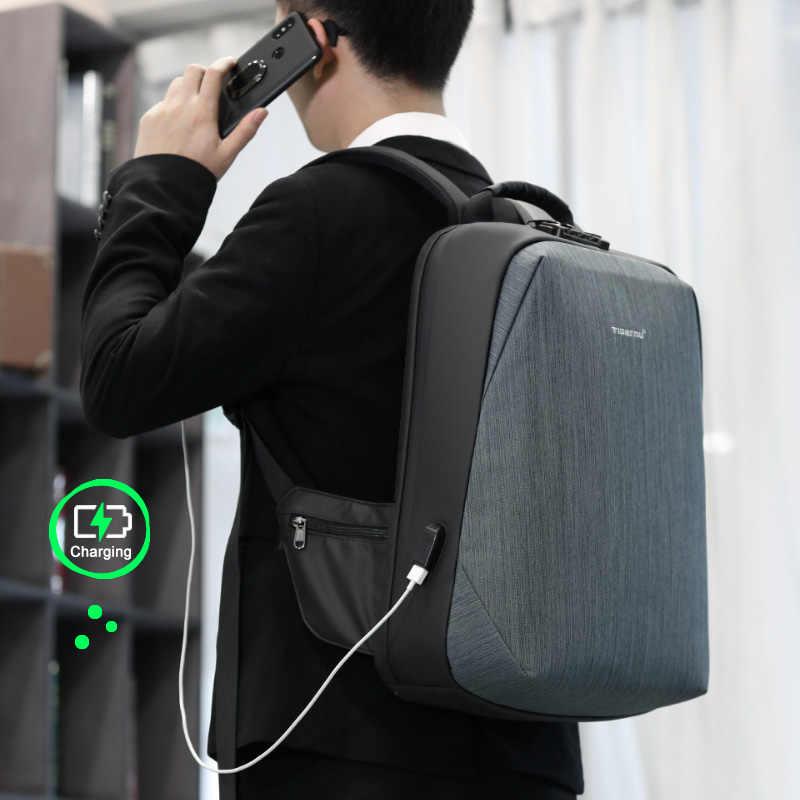 """2020 Tigernu nowy z zabezpieczeniem przeciw kradzieży 15.6 """"plecak na laptopa mężczyźni o dużej pojemności torba biznesowa z portem usb plecaki męskie z darmowymi torbami moda"""
