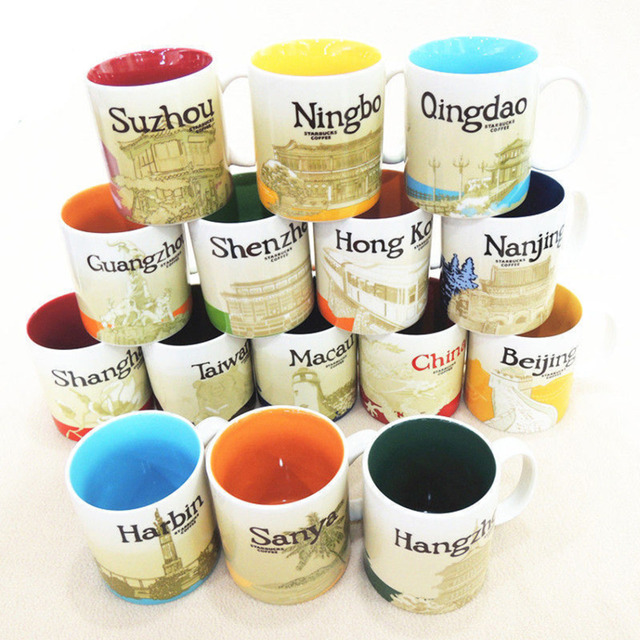 16oz Coffee Mug You Are Here City Collector Series Mugs Beijing Paris Spain Lasvegas Moscow