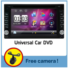 universal Car Radio Double 2 din Car DVD Player GPS Navigation In dash Car PC Stereo video+Free Map+Free Camera double din radio
