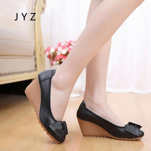 Fashion New Womens Platform Pumps Soft Casual Wedges Shoes Autumn Spring Lady aa0747