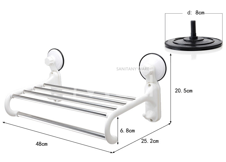Aliexpress Com Buy Suction Towel Holder Plastic Towel Rack With