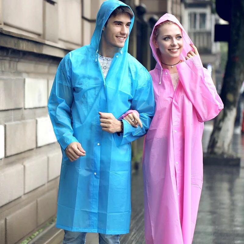 Μακριά αδιάβροχο Γυναικεία άνδρες EVA ταξιδιού βροχή Poncho Rainwear κάλυμμα δεν αναλώσιμα αδιάβροχο Camping με κουκούλα αδιάβροχο