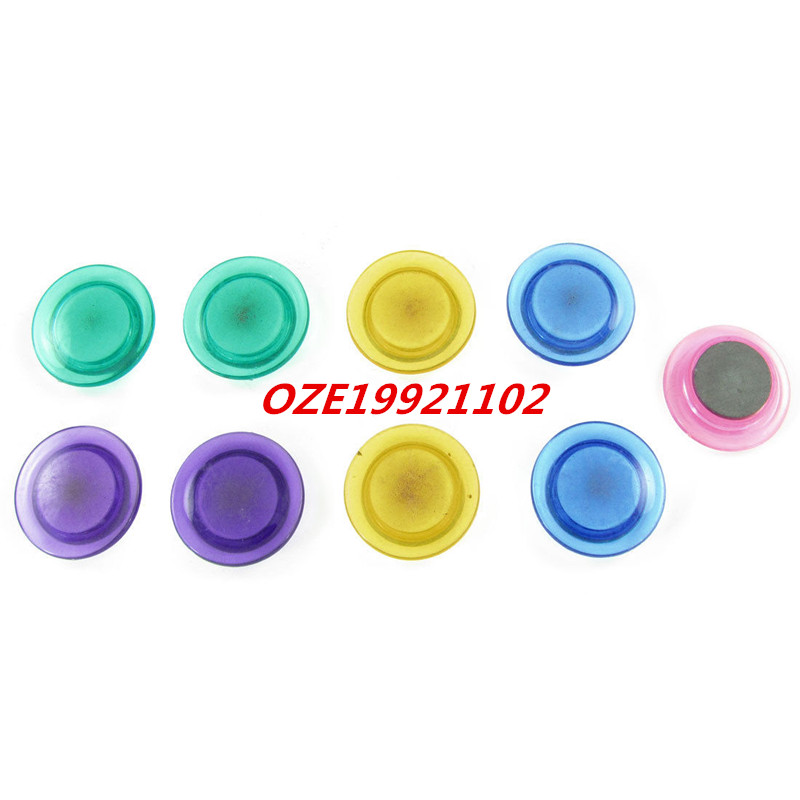 9PCS School Office Home Round Plastic Base Magnet