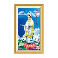SHANSHIYOUPIN South Guanyin Painting Resin Rhinestones Cross Stitch Painting Buddha Mosaic 5D Needlework Diamond Embroidery Y513