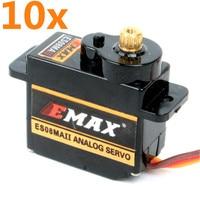 10PCS EMAX Servo Motor 2kg Turque ES08MA II With Metal Gear JR Servo Motor For RC