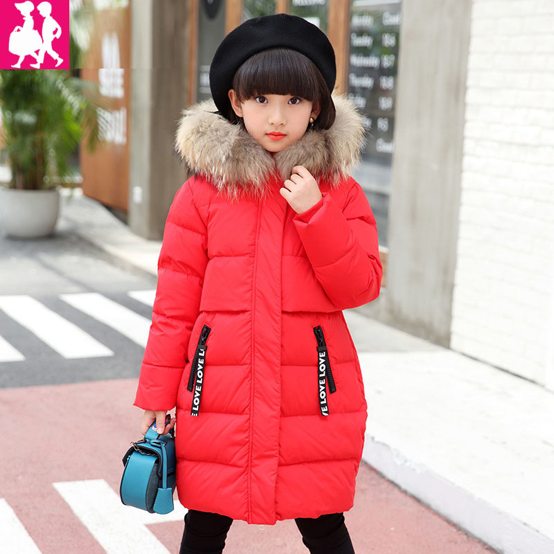 2018 Girls Spring Autumn Winter Coat Cotton Padded Hooded Kid Down Winter jacket for girls clothes Children clothing Parkas girl 2017 winter children cotton padded parkas clothes baby girls