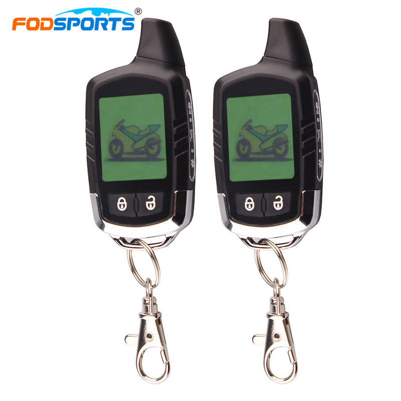 Fodsports 2 Way Motorcycle Alarm Theft Protection Security System Motorbike Long Range Distance with LCD Remote Control цена 2017