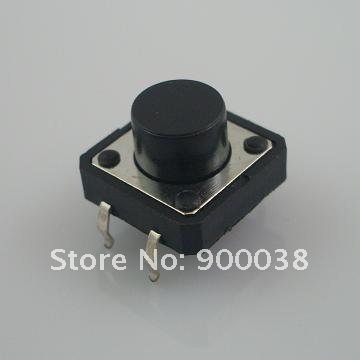 200pcs Vertical through hole Tact Switch DIP Type 12x12x5 Push Button Rohs Tactile Switch