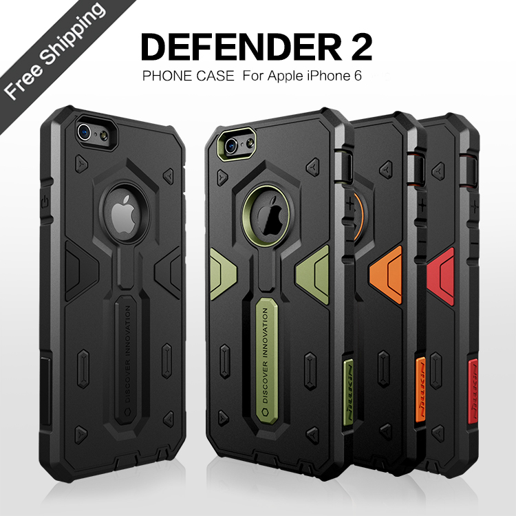 For iPhone 6 6S Case Nillkin Defender 2 Aegis Tough Slim Cover Cases For Apple iPhone6 4.7'' Phone Bag Covers