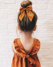 2017 Kids Dresses Summer Girl Clothes Ins Girls Pumpkin Color Vest Dress Girl Clothes Backless Girl Party Dress Children Dresses