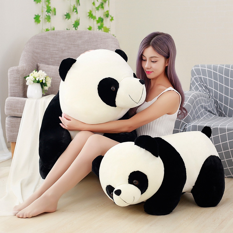 Cute Baby Big Giant Panda Bear Plush Stuffed Animal Doll Animals Toy Pillow Cartoon Kawaii Dolls Girls Lover Gifts(China)