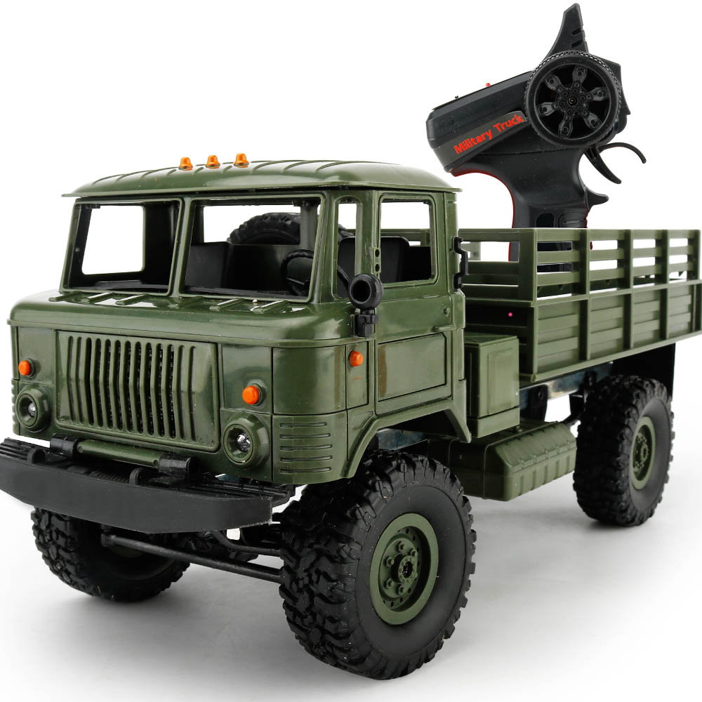 Remote Control Military Truck WPL B 24K 1 16 Set 4 Wheel Drive Off Road RC
