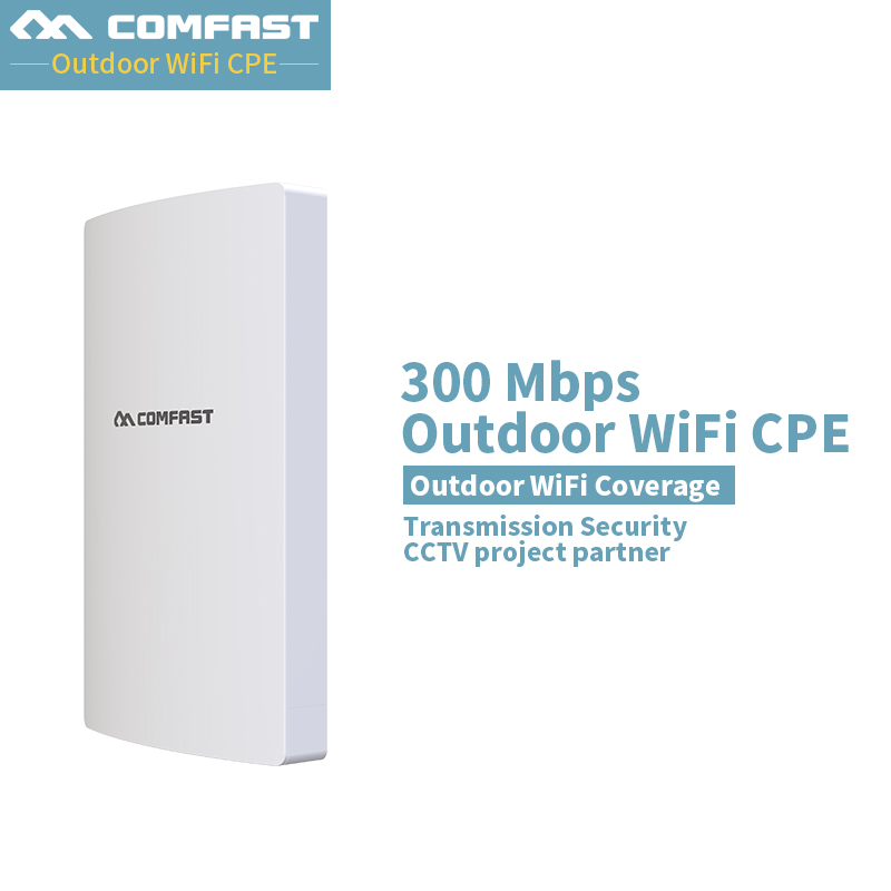 Comfast CF-E316N-V3 2.4G outdoor CPE bridge 300Mbps long range Signal Booster extender Wireless CPE dual 16dbi wifi router bridg comfast wireless outdoor router 5 8g 300mbps wifi signal booster amplifier network bridge antenna wi fi access point cf e312a