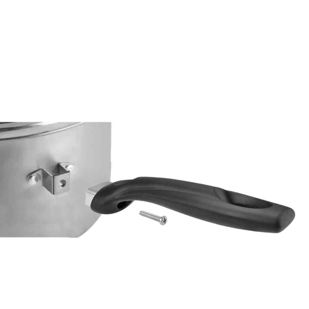 smontabile con impugnatura in bachelite anti-scottatura pezzo di ricambio corto Maniglia per pentola utensile da cucina per uso domestico ergonomica 2 pezzi lato singolo