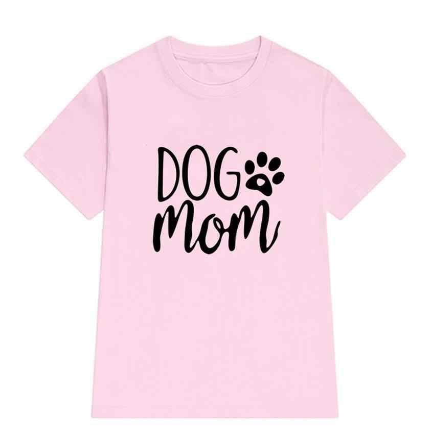 2019 Yeni Moda T-Shirt Kadınlar Için Köpek Anne Hayvan Baskı Kısa Kollu Pamuk T-Shirt Artı Boyutu Üstleri Kadın Punk Pamuk kadın Sevimli