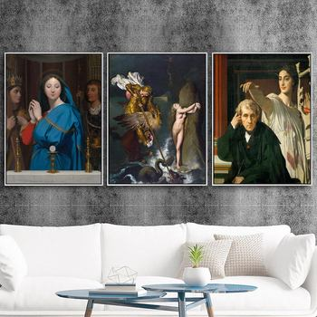 Home Decoration Print Canvas Art Wall Pictures Poster Canvas Printings Paintings French Jean-Auguste-Dominique ingres Women image