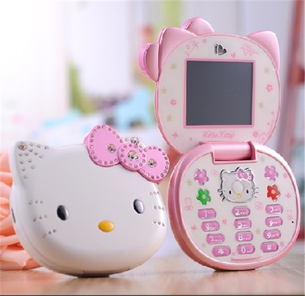 Cute Hello Kitty K688 Quad Band Single Cameras Mobile