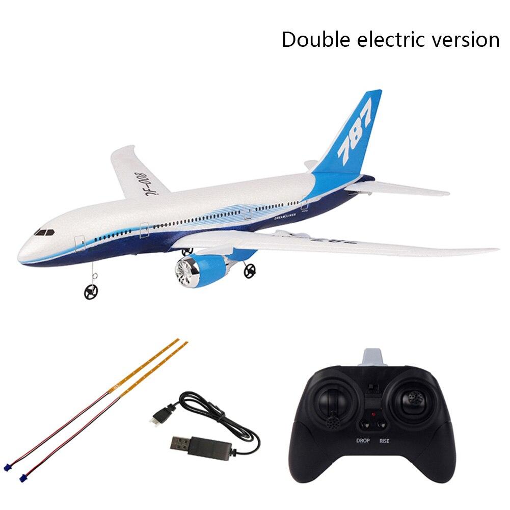 QF008-Boeing 787 RTF échelle aile fixe contrôle facile 3CH envergure aéromodélisme bricolage jouets cadeau RC avion 2.4 GHz Mini débutant
