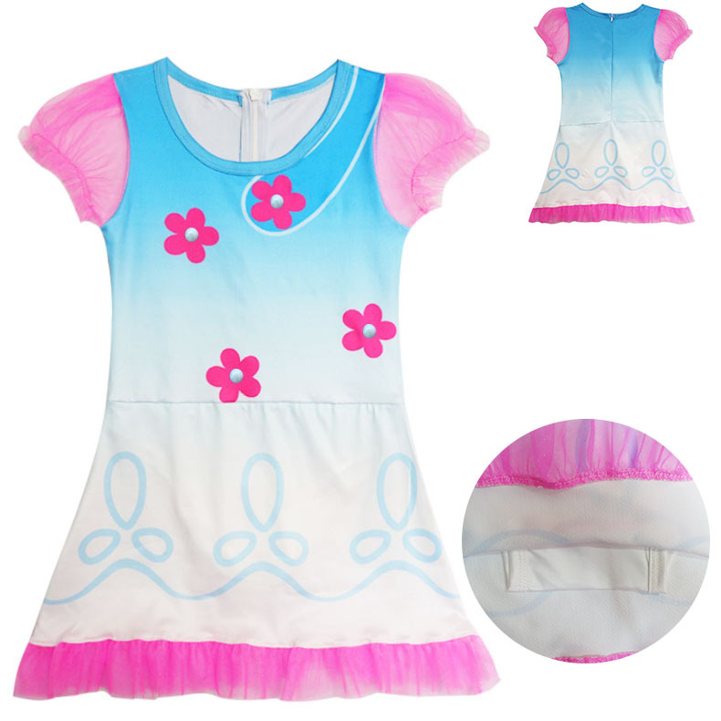5f1ed5a99eb Αγορά Κορίτσια ' ρούχα | New Summer Carnival Costume Trolls For Kids Poppy  Lace Dress Baby Girls clothes Children Party Dress Wig and Hat Choose ZT785
