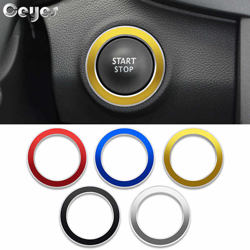 Ceyes Car Sticker Accessories Styling Start Stop Engine Ring Case For Renault Koleos Fluenec Megane Latitude Kadjar Captur Cover