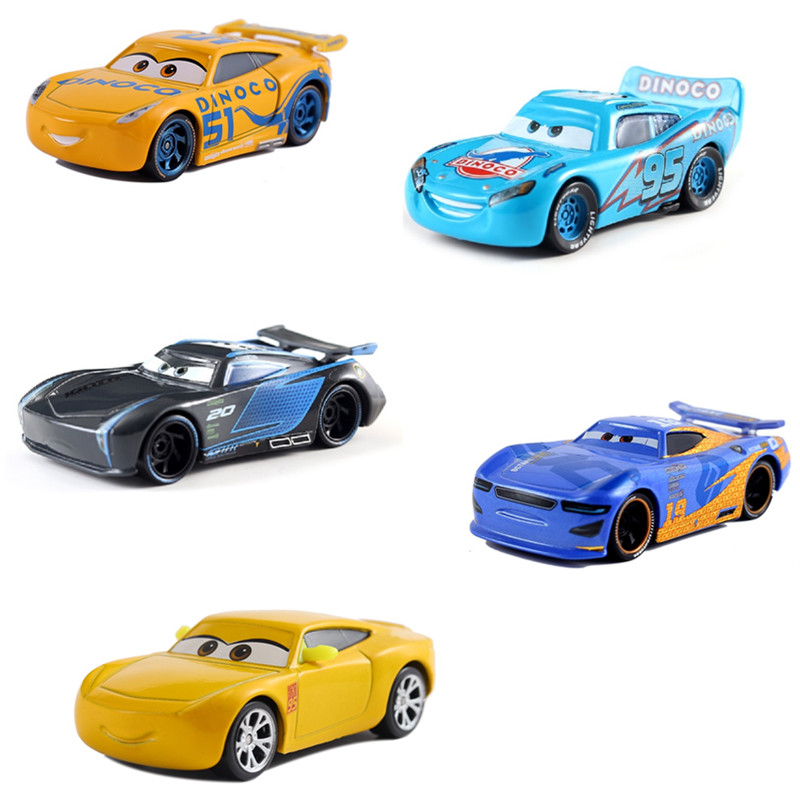 Hot Sale Cars Disney Pixar Cars 3 The King Jackson Storm Mater Diecast Metal Alloy Model Car Toy For Children Birthday Gift