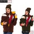 Новые прибытия кенгуру зимняя куртка брюки костюм женщины осень-зима одежда для беременных кенгуру куртки показано балахон