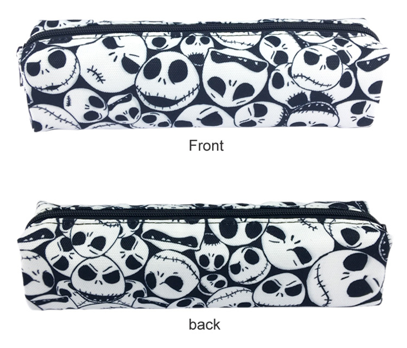 The Nightmare Before Christmas Cosmetic Bags Women Zipper Makeup Bag Chidren Girls Pencil Cases Storage Pouch Handbags Purse