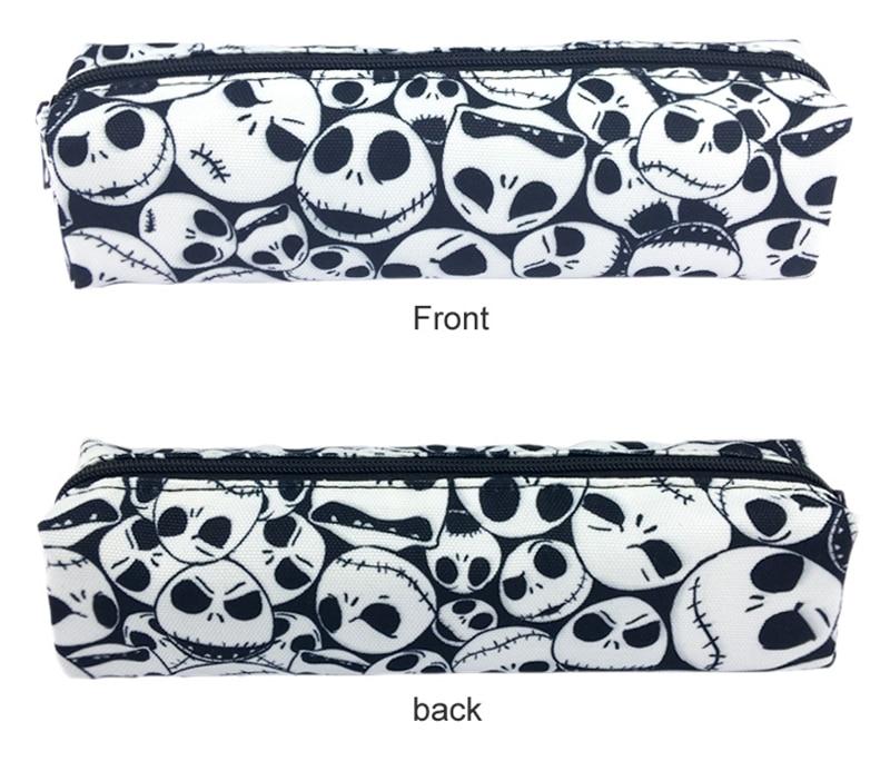 The Nightmare Before Christmas Cosmetic Bags Women Zipper Makeup Bag Chidren Girls Pencil Cases Storage Pouch Handbags Purse