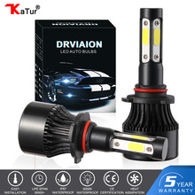 katur 11000LM H4 H7 LED Bulbs Headlights Kit H8 H9 H11 H16 9005 HB3 9006 HB4 6000k White Fog Running lights 12V LED Lamp(China)