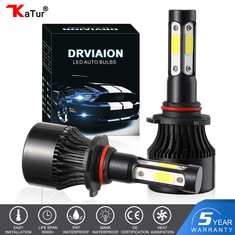 katur 11000LM H4 <font><b>H7</b></font> <font><b>LED</b></font> Bulbs Headlights Kit H8 H9 H11 H16 9005 HB3 9006 HB4 6000k White Fog Running lights 12V <font><b>LED</b></font> <font><b>Lamp</b></font> image