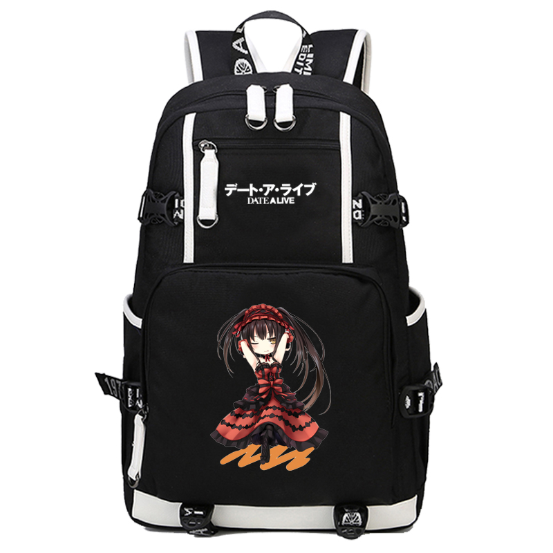 Date A Live Backpack Cosplay Itsuka Kotori Anime Canvas Bag Tokisaki Kurumi Schoolbag Travel BagsDate A Live Backpack Cosplay Itsuka Kotori Anime Canvas Bag Tokisaki Kurumi Schoolbag Travel Bags