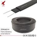 30 м 220 В огнеупорный Тип нагревательный кабель W = 8 мм саморегулируемая температура водопровод защита крыши деобледенение нагревательный ка...