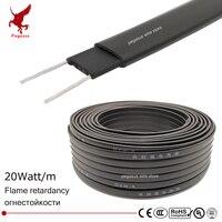 30m 220V Chống Cháy loại làm nóng Cáp W = 8mm Tự regulat nhiệt độ ống Nước bảo vệ Mái deicing Làm Nóng dây cáp