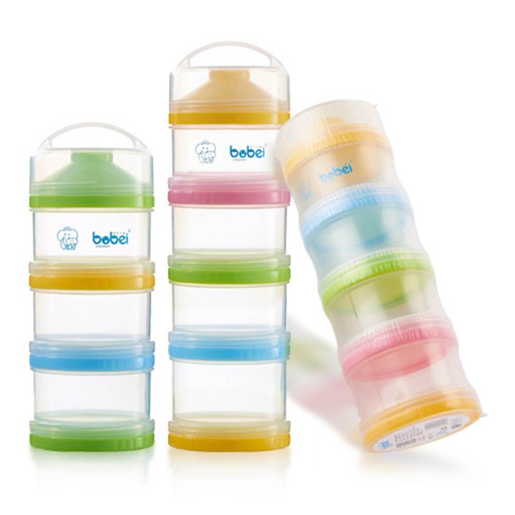4 Layer Baby Milk Powder Box Dispenser Infant Feeding Milk Powder Food Box Storage Food Bottle Container Green 88