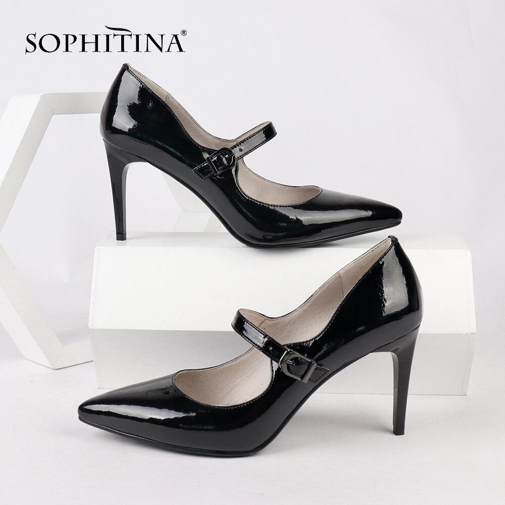 SOPHITINA talons minces pompes en cuir verni décontracté confortable travail relaxant élégant charmant chaussures bout pointu pompes PC156