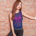 Sportswear Mulheres verão Colete Respirável de Secagem rápida Solto Tanque Sexy Tops Sem Mangas de Fitness colete Y25105