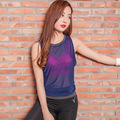Summer Women Sportswear Vest Quick Dry Breathable Loose  Sexy Tank Tops Fitness  Sleeveless  vest Y25105