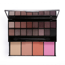 20 Color Shimmer Glitter Eye Shadow Palette with Mirror Sponge Eyeshadow Naked Makeup Set Blusher Contour Powder Cosmetics
