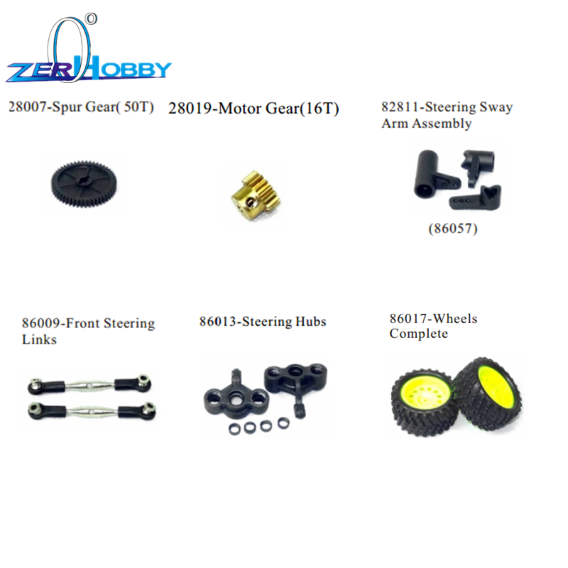 HSP RC CAR  GENERAL SPARE PARTS OF 1/16 SCALE ELECTRIC OFF ROAD RACING TRUCK 94182 94163 94185 94186 94183 94187