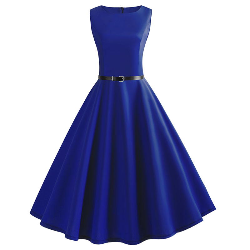 Blue Vintage Swing Dress 101