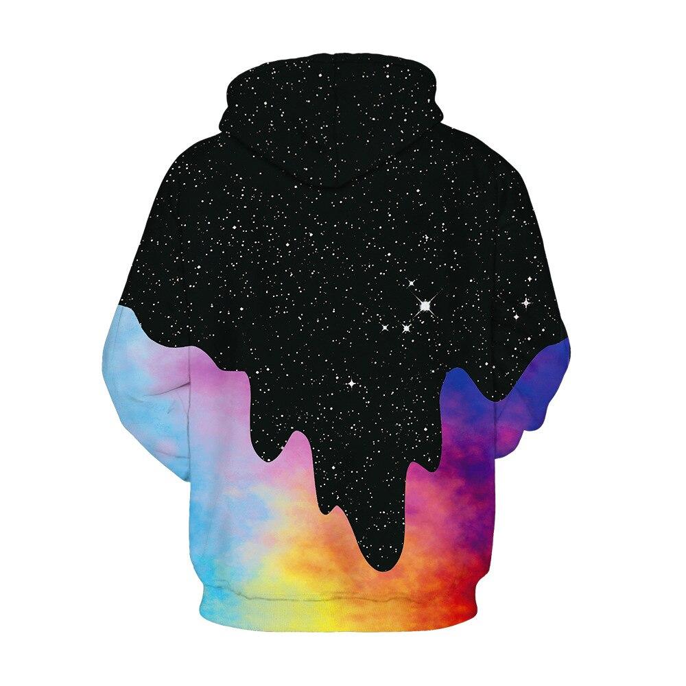 Étoiles brouillard impression numérique 2019 explosion modèles sport grande taille à capuche couples porter des uniformes de baseball sweat shirt - 5