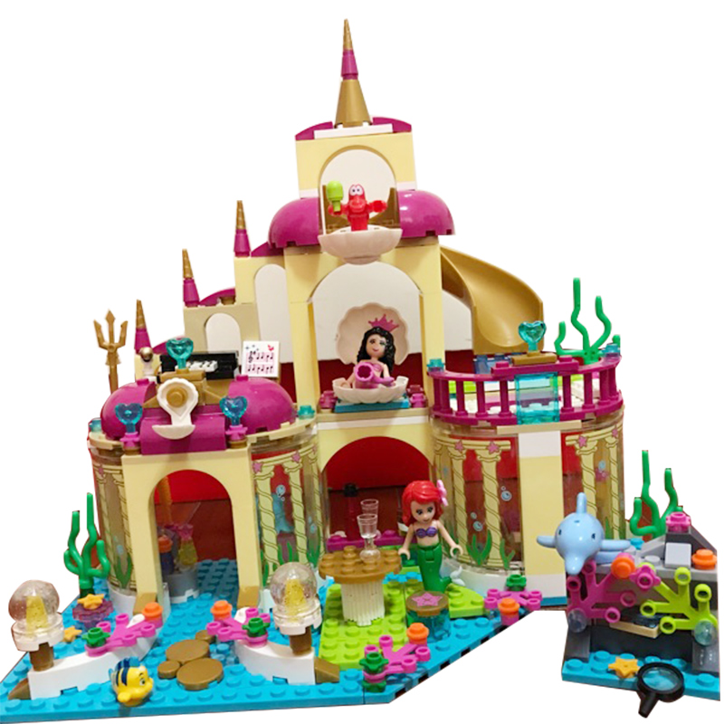 JG306 402pcs Ariel\'s Princess Undersea Palace Girl Friends Building Blocks set Compatible 10436 Brick Toys for Children princess ponies 6 best friends for ever
