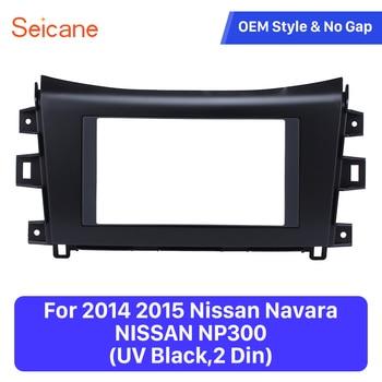 Seicane Doppel Din Auto Radio Fascia Trim Installation Kit Rahmen Dash CD DVD Refit Kit Für 2014 2015 Nissan Navara NISSAN NP300