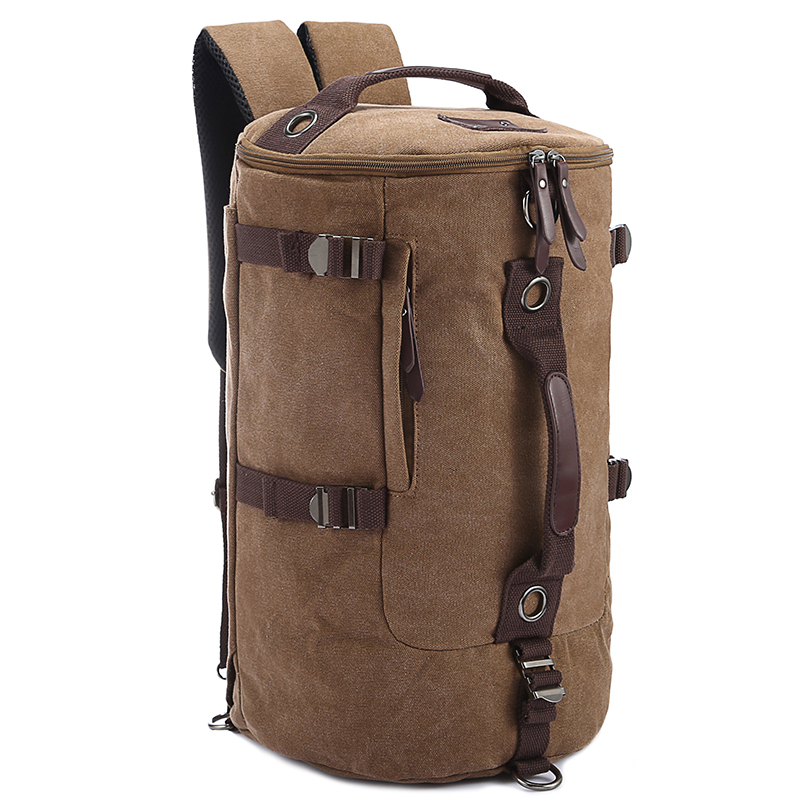 მამაკაცის ყოველდღიური ტილო სამოგზაურო ჩანთა Big Solid Zipper Backpack bag bolsa masculin rucksack bucket მაღალი ხარისხის მამაკაცებისთვის