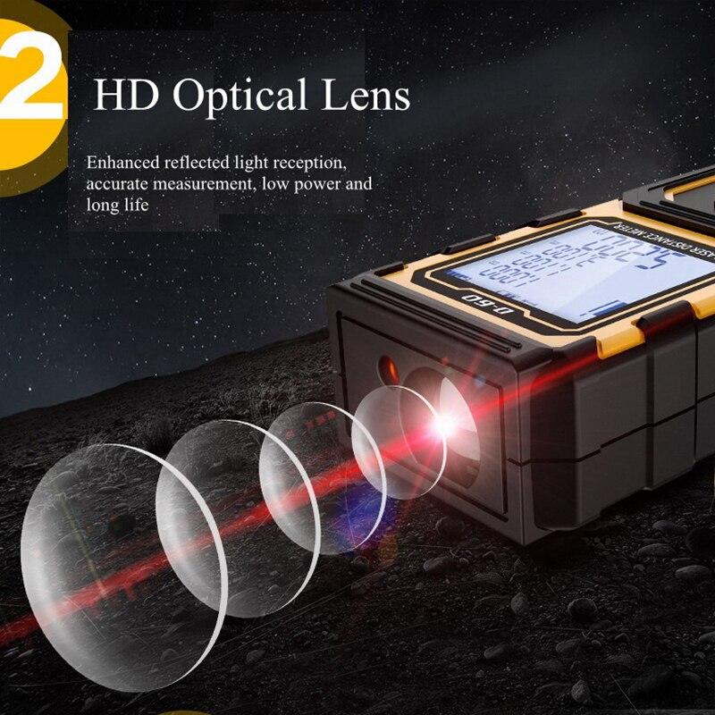 GHIXACTO Mini Laser Range finder 40M 60M 80M 100M Laser Distance Meter Laser Rangefinders Handheld Trena Tape Measure Tool D ZH in Laser Rangefinders from Tools