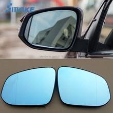 smRKE 2Pcs For Toyota RAV4 Rearview Mirror Blue Glasses Wide Angle Led Turn Signals light Power Heating стоимость