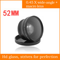 Frete grátis hd orsda 52mm wide angle lens macro para panasonic lumix DMC GF1 GF2 GF3 G1 G2 G3 G3K D800 D3200 D3100 D5100 D7000